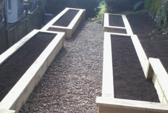 Raised planter for vegetable garden - Lewis Landscaping