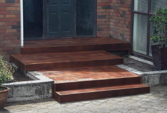 premium door step decking